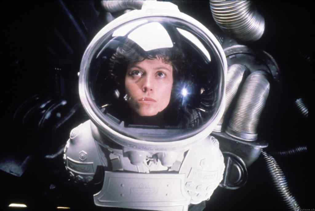sigourney weaver in the ripley scott movie, Alien.