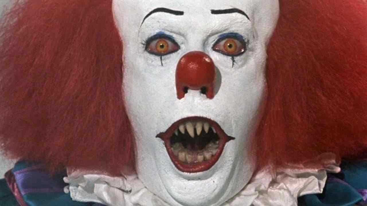 pennywise the clown from the hit franchise IT adapted from the stephen king novel.