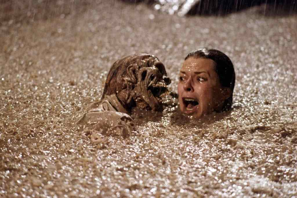 The infamous poltergeist movie where real skeletons were used.
