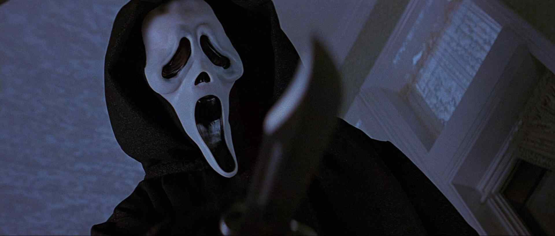 The famous ghostface killer in the scream movie franchise.