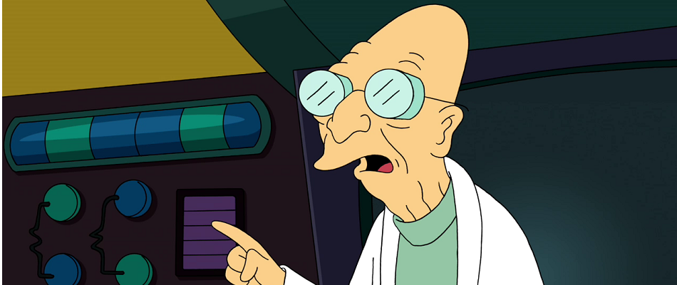 Professor Hubert Farnsworth from the animated Futurama.