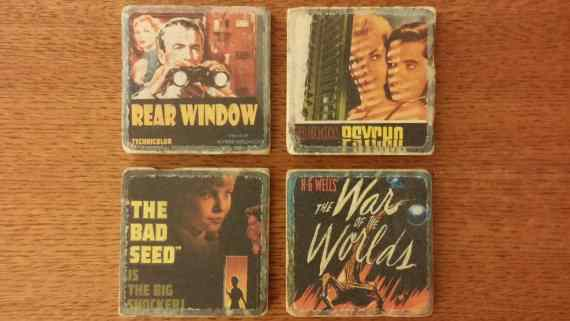 Horror movie coasters.