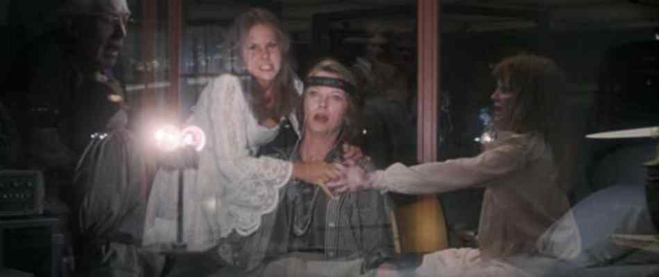 Linda Blair and Company in the sequel Exorcist II: the Heretic.