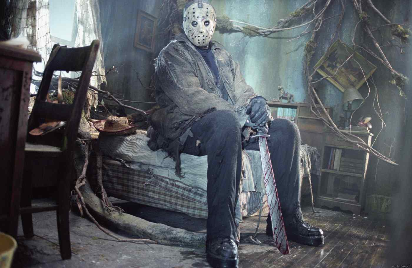 Jason Voorhees enjoys a peaceful moment