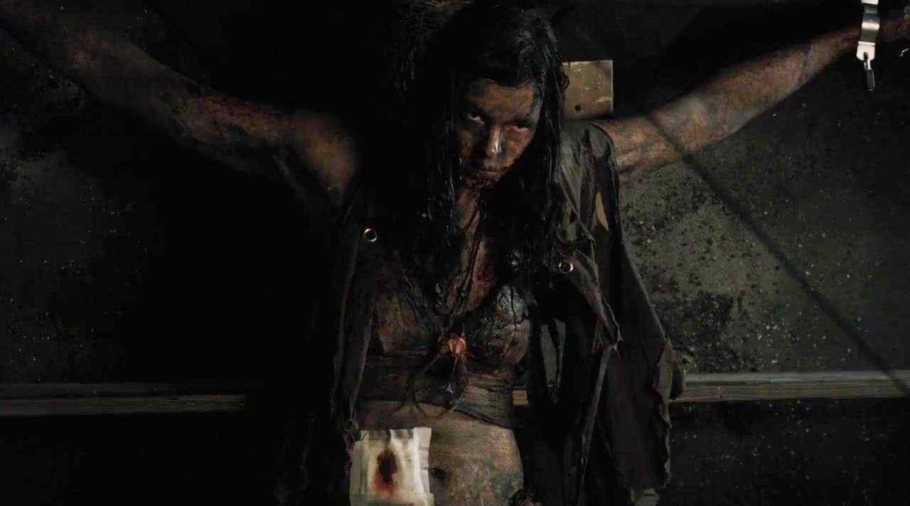 The Woman (Pollyanna McIntosh) tied up in the Cleek's cellar.