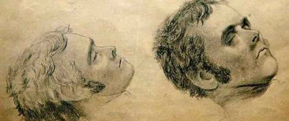 Death sketches of the cannibalistic fugitive Alexander Pearce