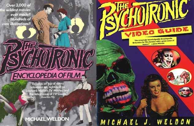 Cover images to the Psychotronic Guides by Michael Weldon