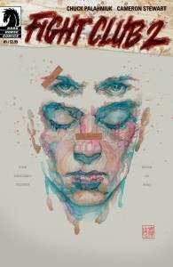 The final cover to Fight Club 2, issue 1 written by Chuck Palahniuk.