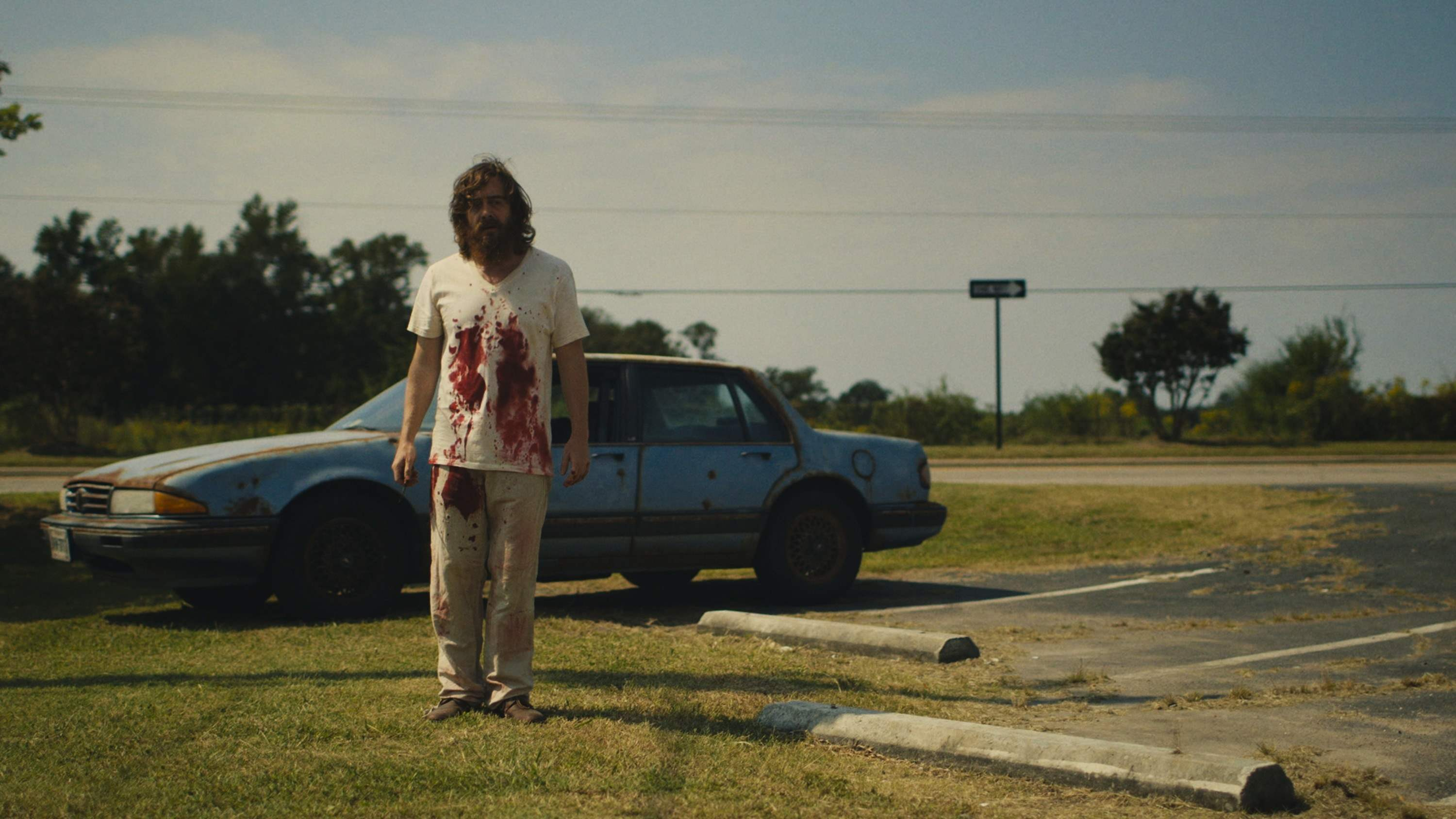 Macon Blair bloody in Blue Ruin