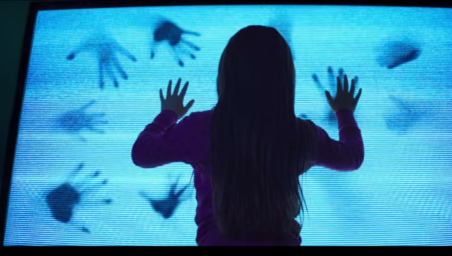 Maddy communicates with the entities in her house through the TV in Poltergeist.