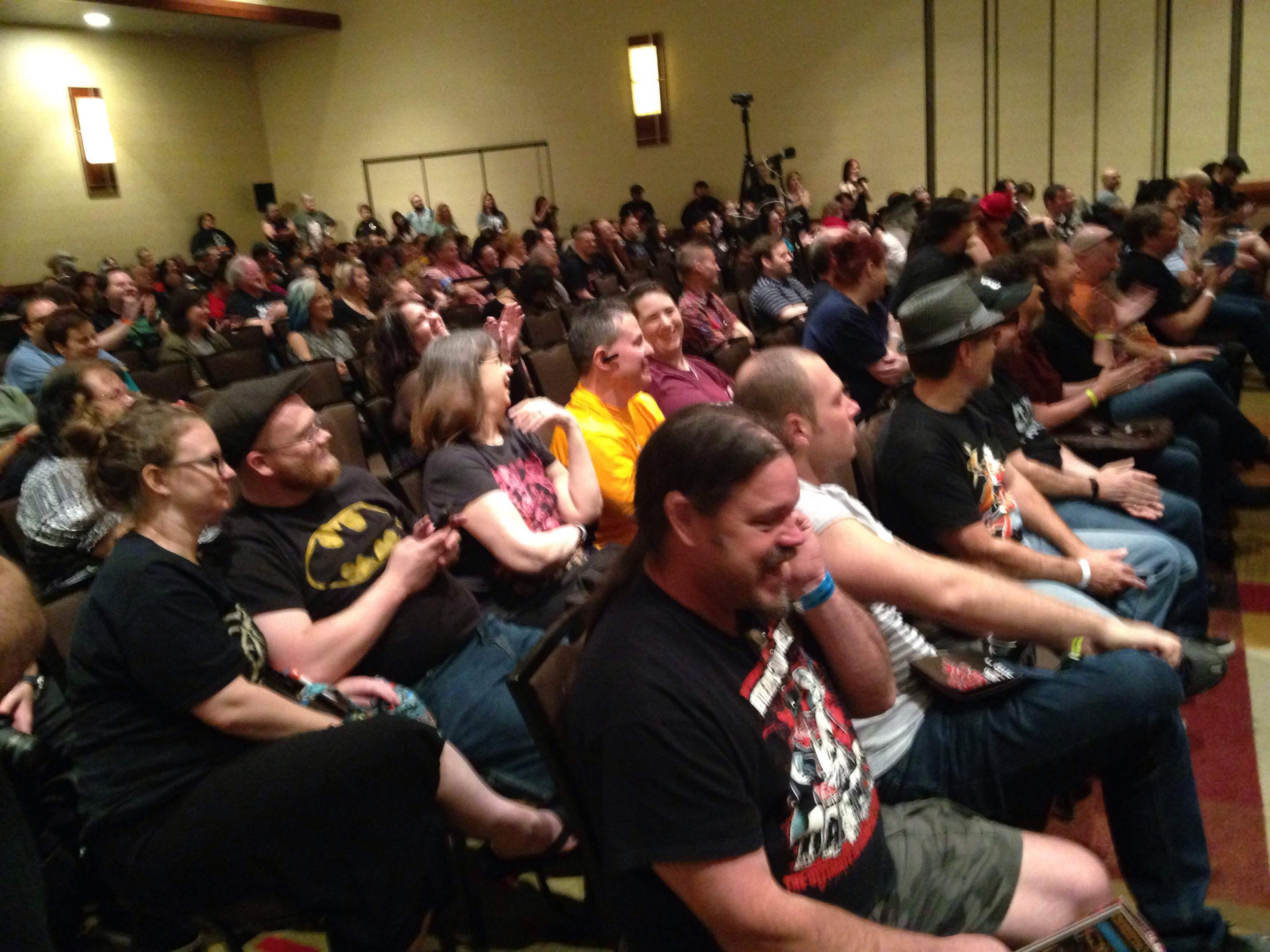 Texas Frightmare Weekend hosted many panel discussions for fans, including this one with Udo Keir