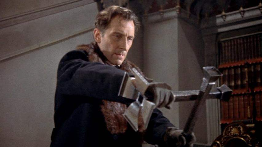 Peter Cushing in Horror of Dracula