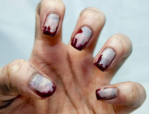 bloody-zombie-nail-art - Horror Nail Art- Let Your Fingertips Do The Talking