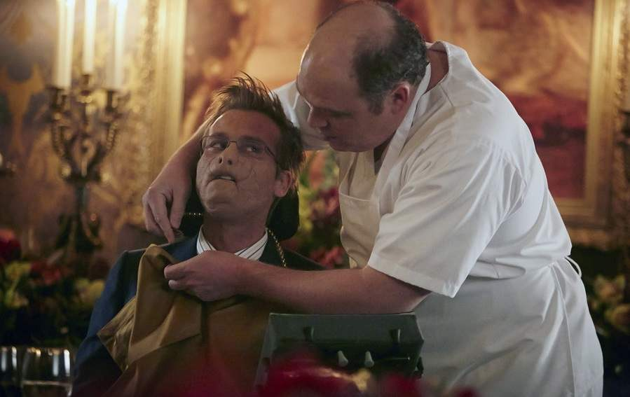 """Mason Verger and his chef try out recipes that they would like to use on Hannibal in the episode """"Dolce"""""""