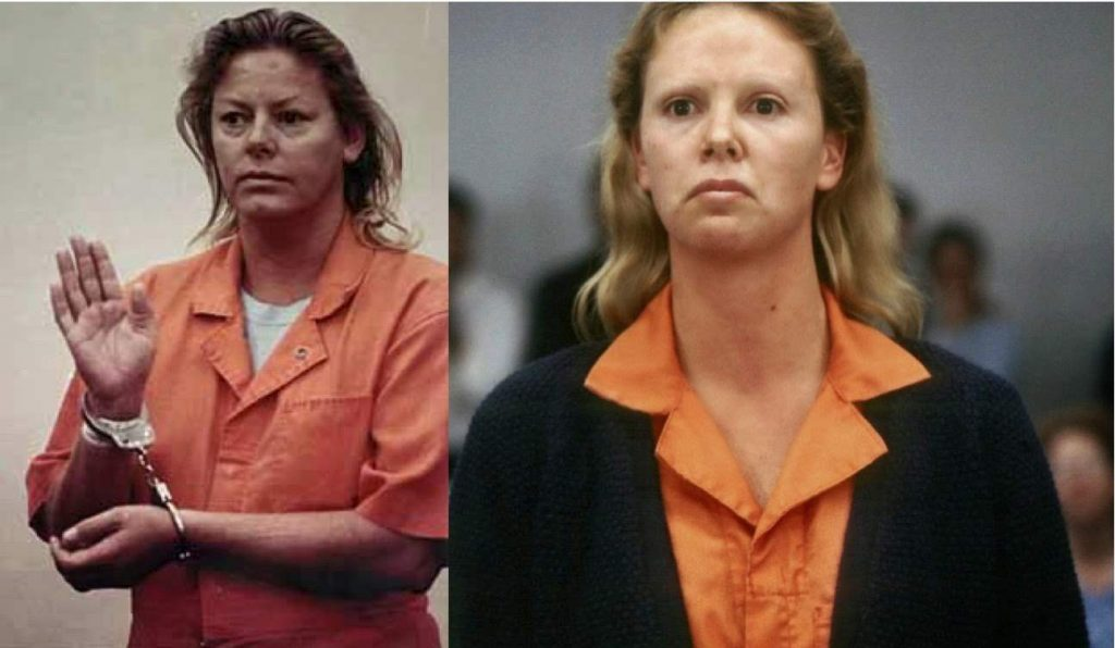 Aileen Wuornos and the amazing portrayal of her life by Charlize Theron in the movie Monster.
