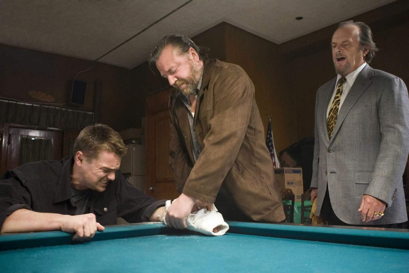Leonardo DiCaprio, Ray Winstone & Jack Nicholson in The Departed