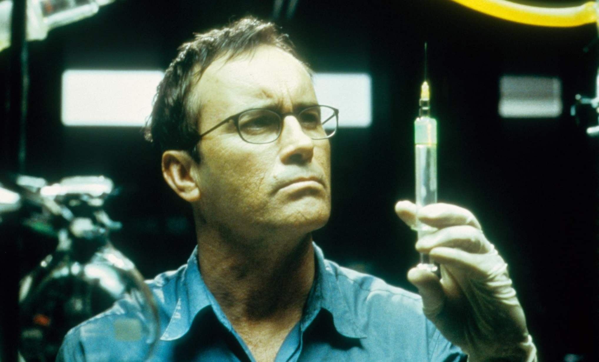 Actor Jeffrey Combs brilliantly portrayed Dr. Herbert West in three Re-Animator films.