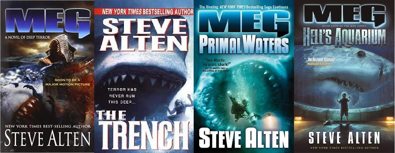 Covers for the first four MEG books