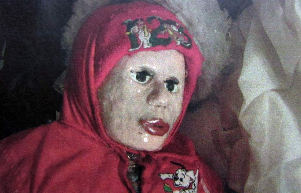 Mummified doll made by Moskvins.