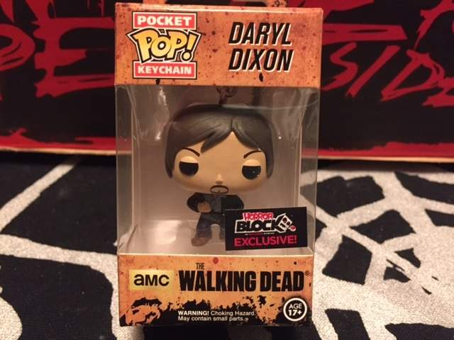 A Daryl Dixon Pop! keychain in the December 2015 Horror Block