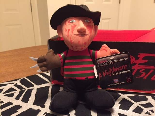 A Freddy Krueger plush in the December 2015 Horror Block