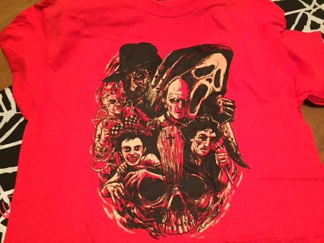 A Wes Craven tribute t-shirt from Shirt Punch in the December 2015 Horror Block