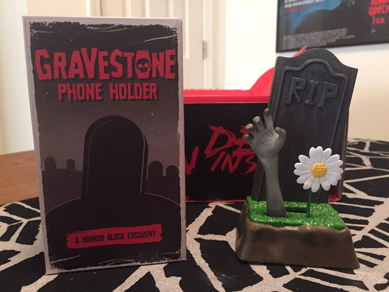 Gravestone cell phone holder