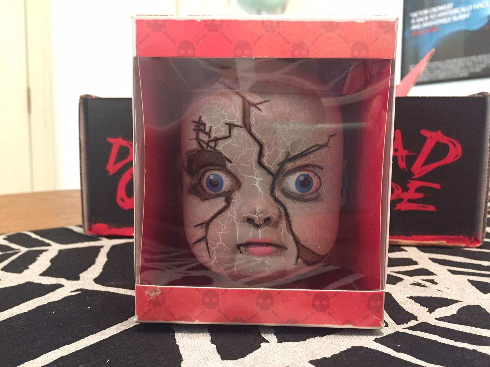 Creepy plastic doll head