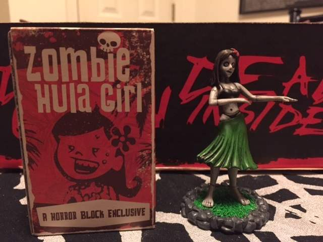The Zombie Hula Girl dashboard ornament from December 2015 Horror Block