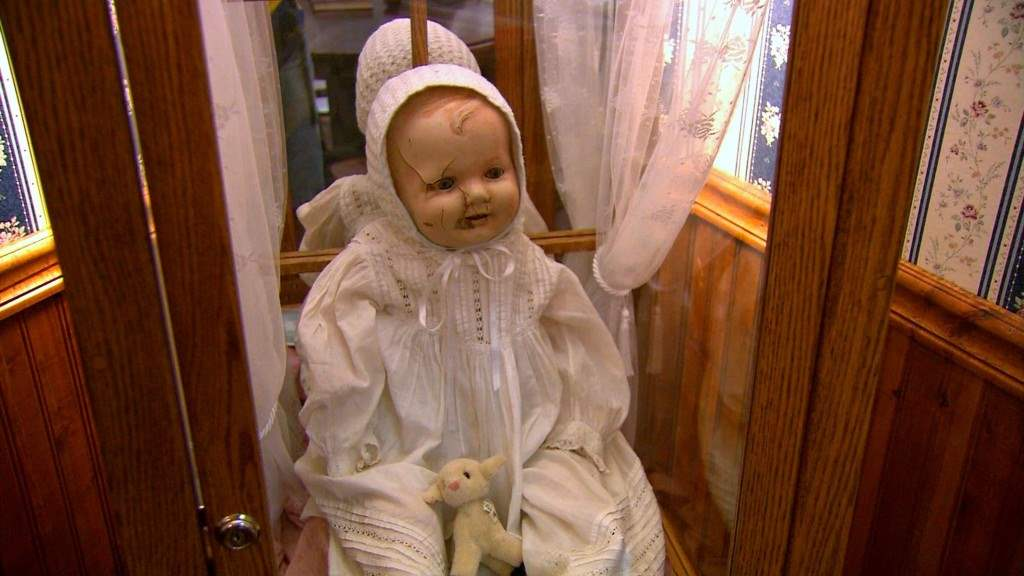 Mandy the haunted doll who moves no her own.
