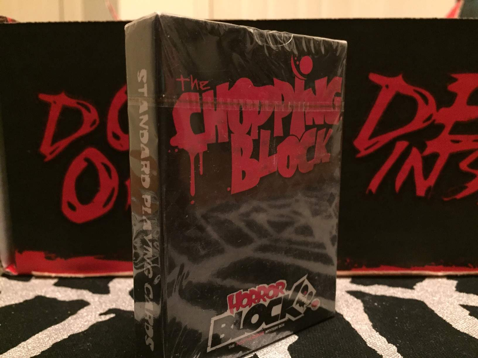 Unopened deck of playing cards in February 2016's Horror Block