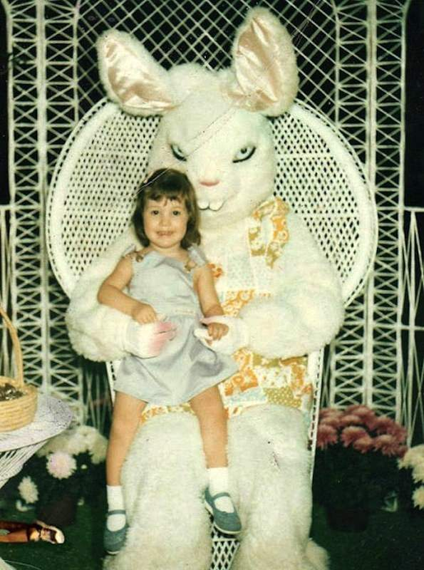 The most evil easter bunny family photos.