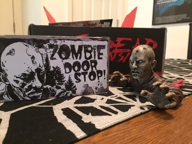A zombie door stop in the March 2016 Horror Block