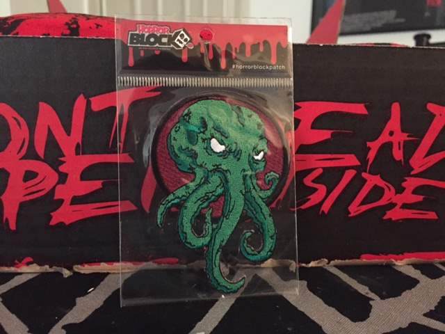 Cthulu patch in the April 2016 Horror Block