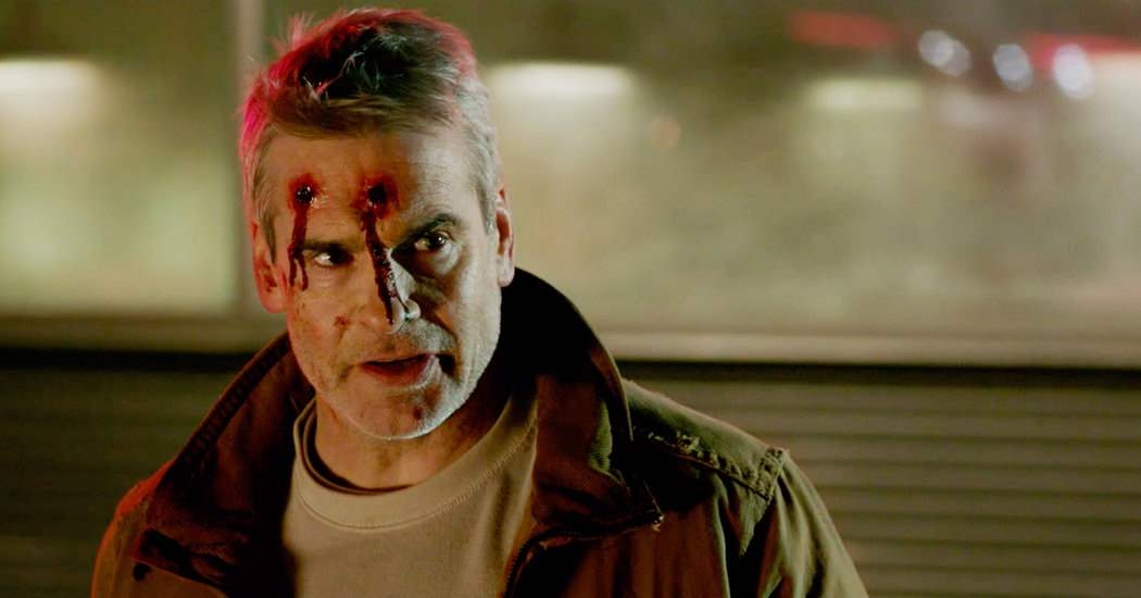 Henry Rollins head wound in He Never Died