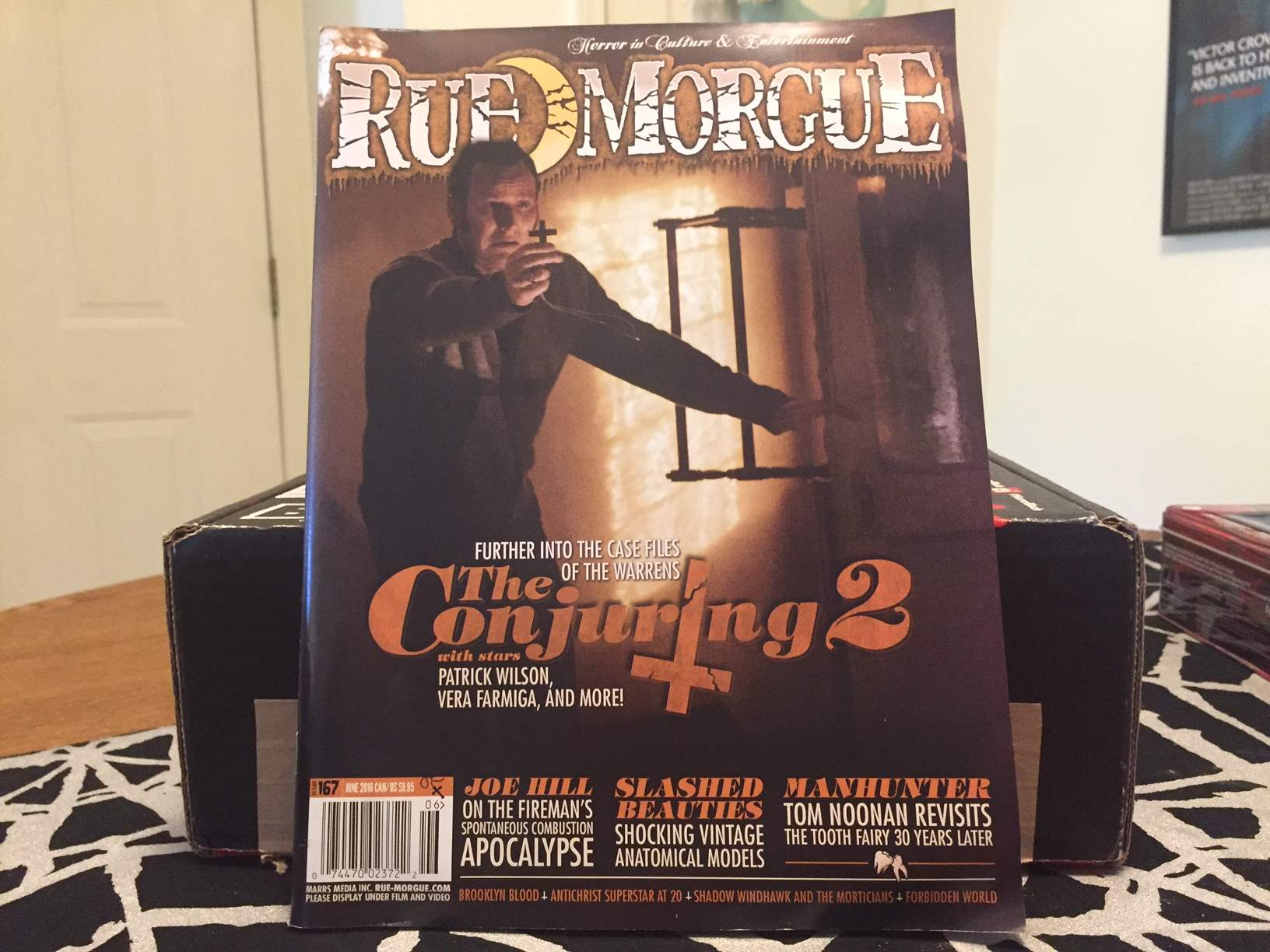 The June 2016 issue of Rue Morgue Magazine from the May 2016 Horror Block