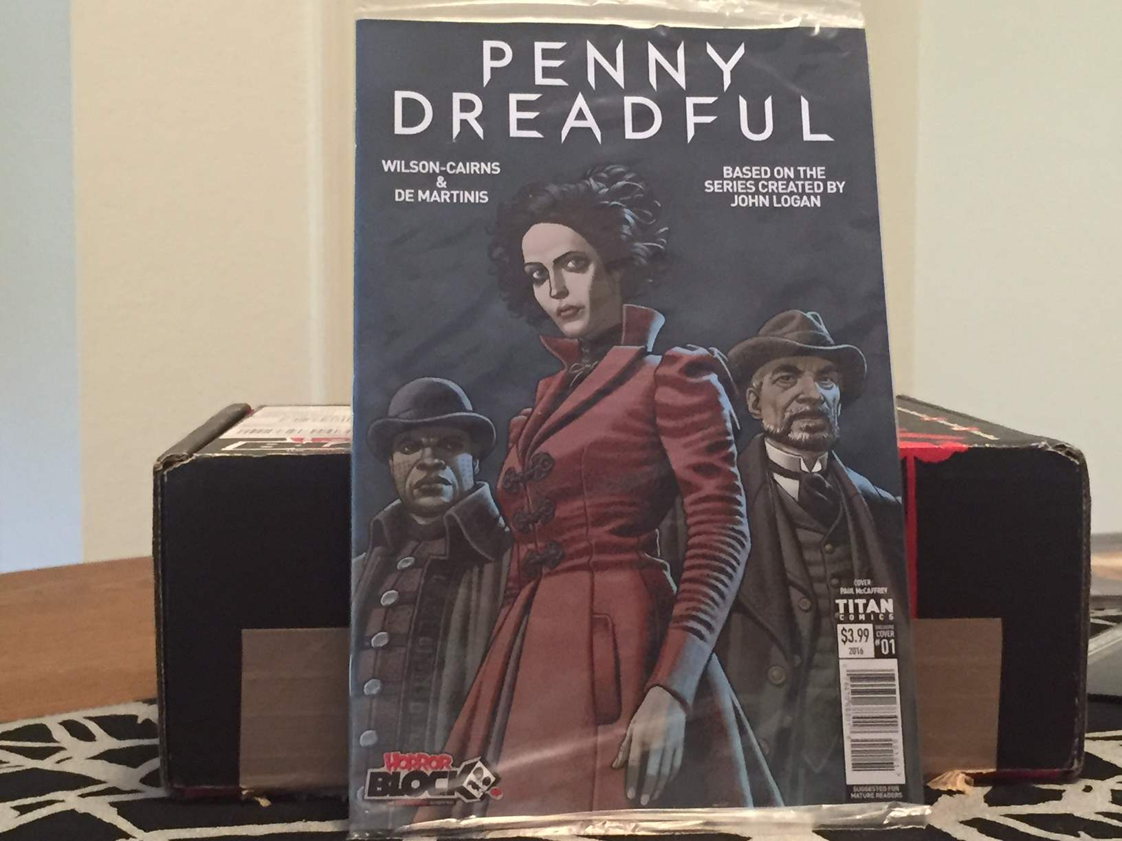 A Penny Dreadful variant cover comic in the May 2016 Horror Block