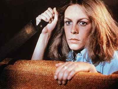 Jamie Lee Curtis in John Carpenter's Halloween.