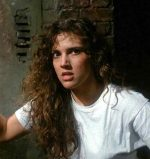 Ashley Laurence as Kirsty in Clive Barker's violent, 1987 S&M inspired, horror film Hellraiser.