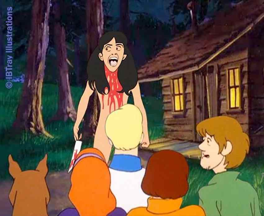 Scooby Doo and the gang meet Angela Baker from Sleepaway Camp.