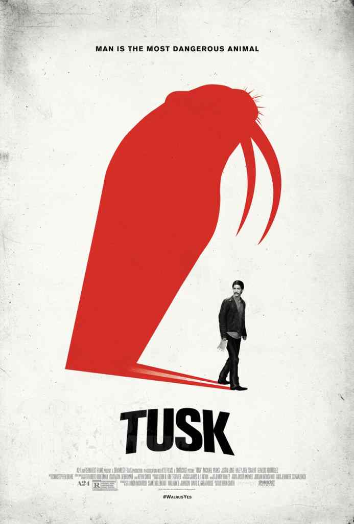 Tusk is Headed to DVD and Blu-ray. New clip from Tusk. Poster for the Kevin Smith Film Tusk.