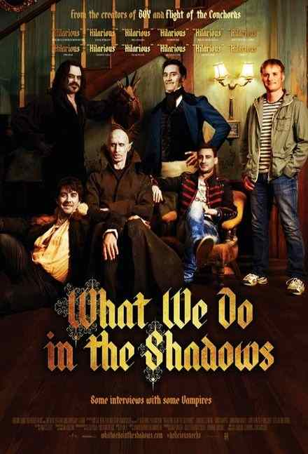Werewolves, not Swearwolves. Poster for A still from Jemaine Clement and Taika Waititi's What We Do in the Shadows.