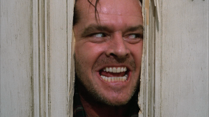 Jack Nicholson in the popular movie The Shining.