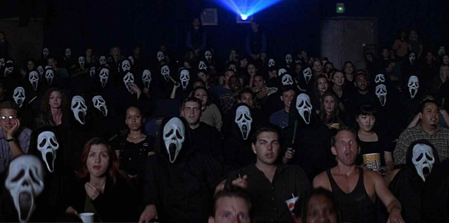 Audience members at the world premiere of Stab in Scream 2