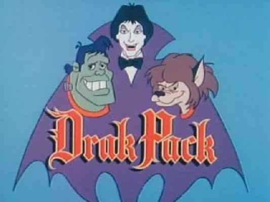 The opening title screen to the monster cartoon Drak Pack.