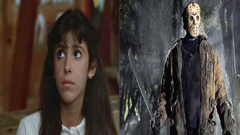 Jason Voorhees and Angela Baker from Friday the 13th and Sleepaway Camp.