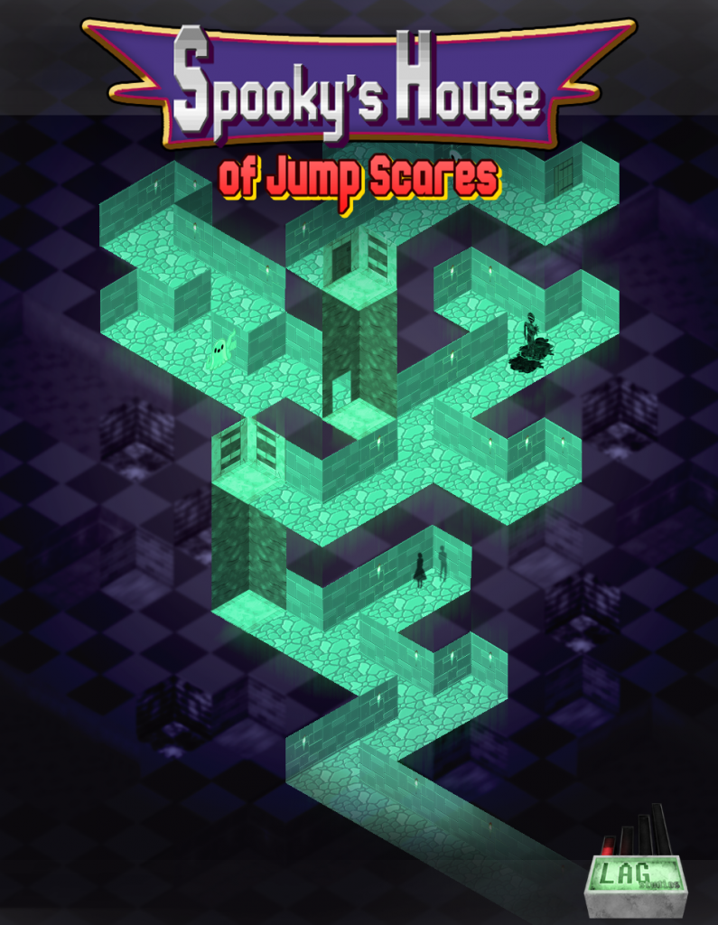 "The cover art for the upcoming game ""Spooky's House of Jump Scares."""