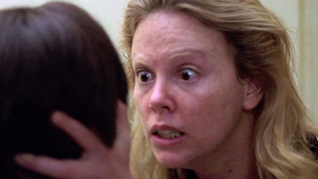 Charlize Theron portraying Aileen Wuornos in the movie Monster.