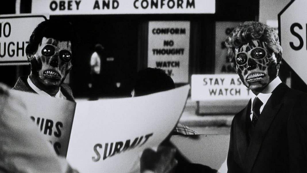 They Live - Horror films that satirize Regan-era America