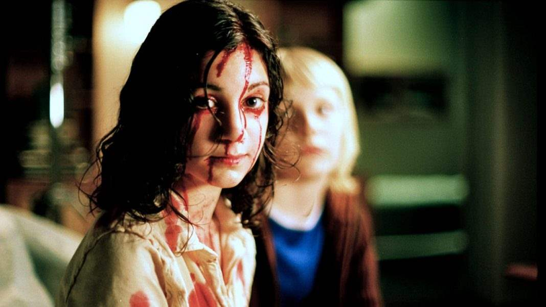 Eli and Oskar in Let the Right One In